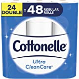 Cottonelle Ultra Cleancare Toilet Paper, 24 Double Rolls Bathroom Tissue (Equals 48 Regular Rolls)
