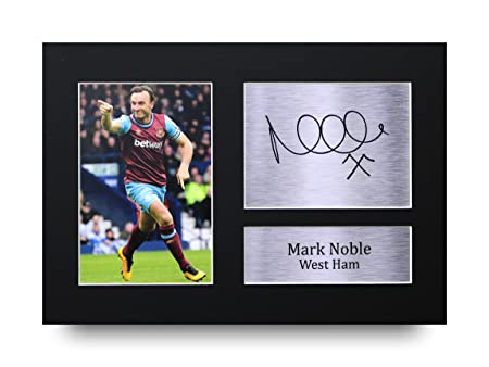 aba4607a5465 HWC Trading Mark Noble Gift Signed A4 Printed Autograph West Ham United  Gifts Print Photo Picture Display  Amazon.co.uk  Kitchen   Home