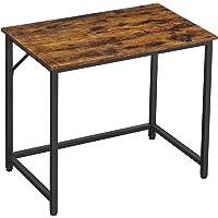 VASAGLE bureau, computertafel, smalle bureautafel, 80 x 50 x 75 cm, studeerkamer, thuiskantoor, kantoor, eenvoudige…