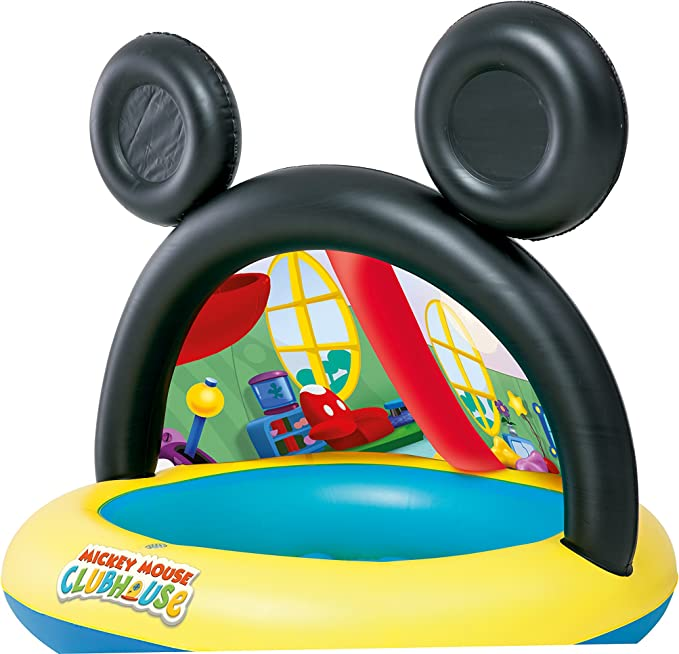 Piscina Hinchable Infantil con Parasol Bestway La Casa de Mickey ...