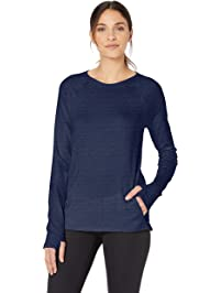 f22fa894 Amazon Essentials Women's Studio Terry Long-Sleeve Shirt