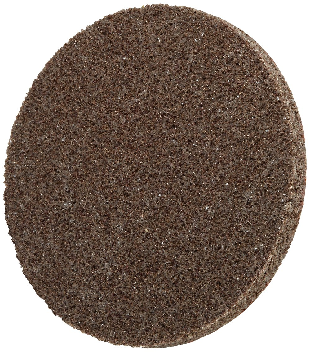 Scotch-Brite(TM) Roloc(TM) EXL Unitized Wheel TR, Speed-Lok TR Quick-Change Attachment, Aluminum Oxide, 3' Diameter, Medium Grit, 15100 rpm, Tan (Pack of 10) 3 Diameter 3M 00048011171937