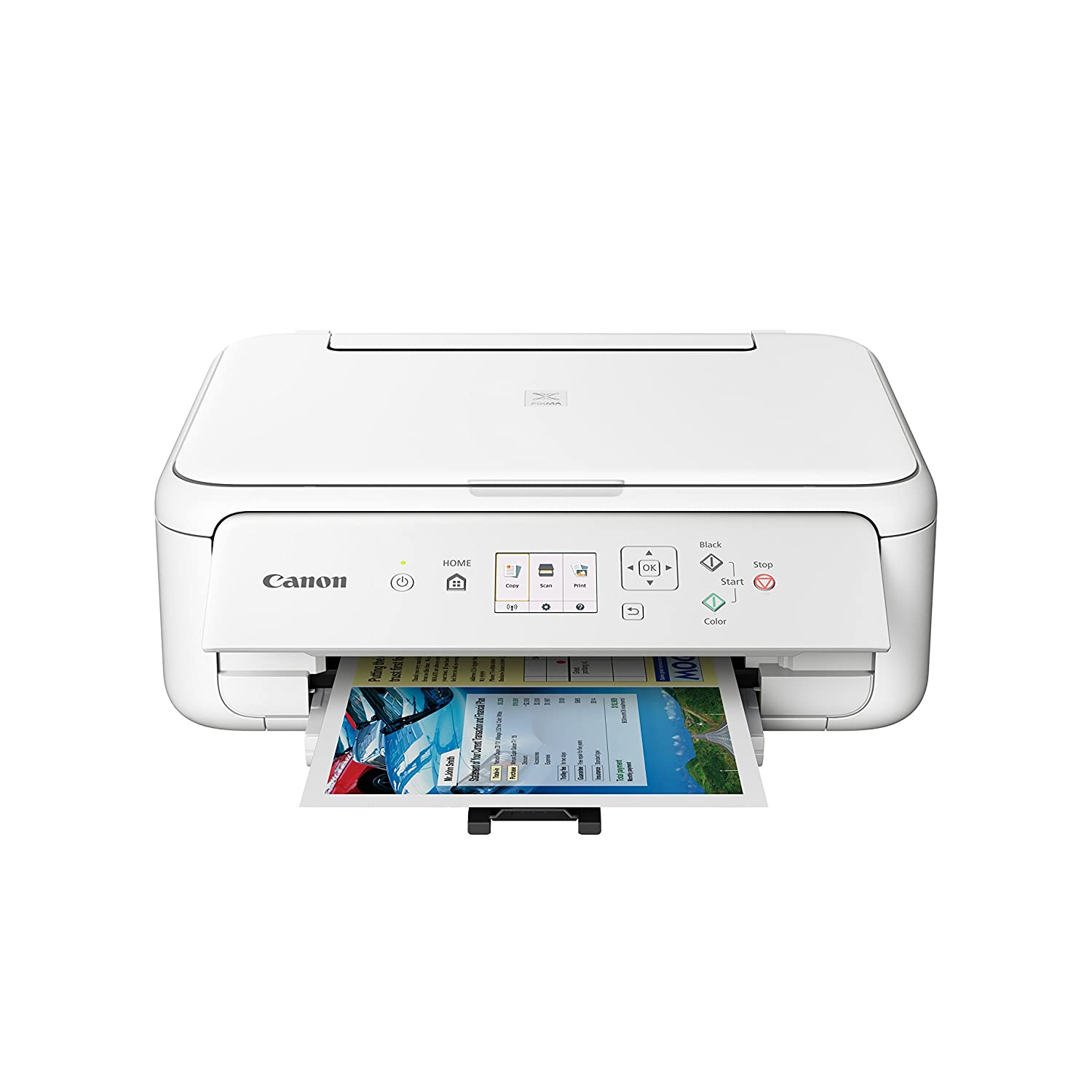 Canon PIXMA TS5120 Wireless Color Photo Printer with Scanner & Copier - White and CLI-280XXL Black Ink bundle
