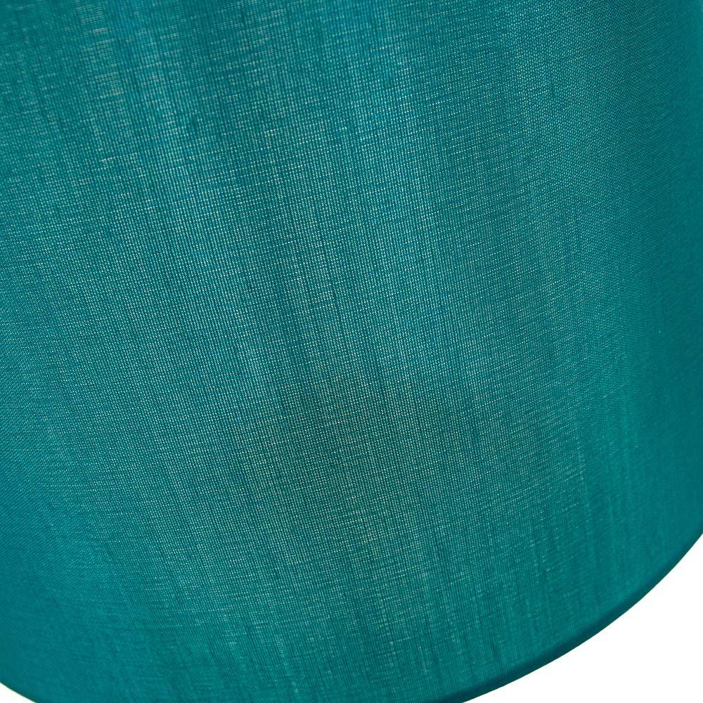 Paralume a Tamburo dal Design Tradizionale Medio 12 in Seta Artificiale Color Crema Satinato da Happy Homewares