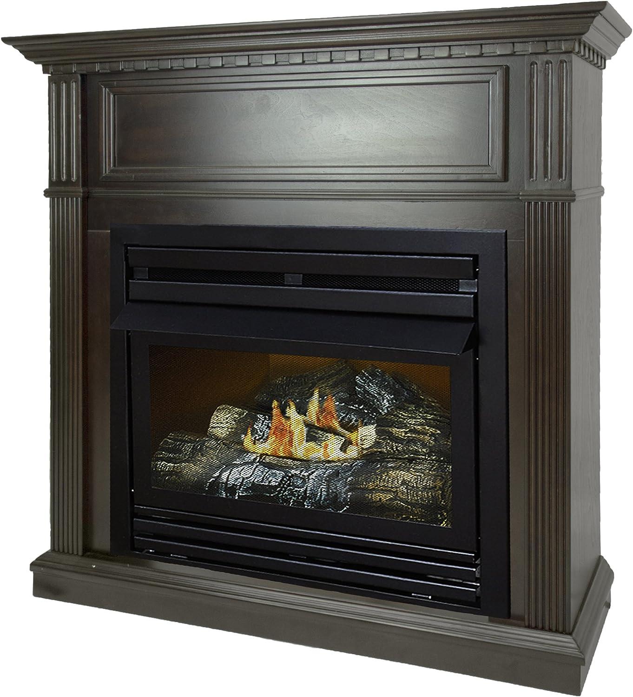 Pleasant Hearth 42 Intermediate Tobacco System Liquid Propane Vent Free Fireplace 27,500 BTU