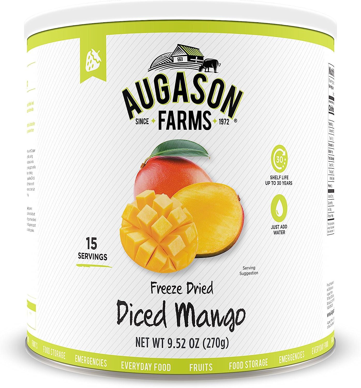Augason Farms Freeze Dried Diced Mango 9.52 oz No. 10 Can