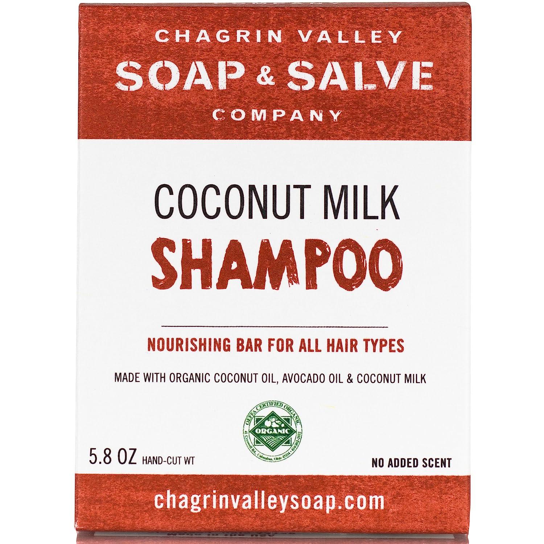 Organic Natural Shampoo Bar, Coconut Milk, Chagrin Valley Soap & Salve