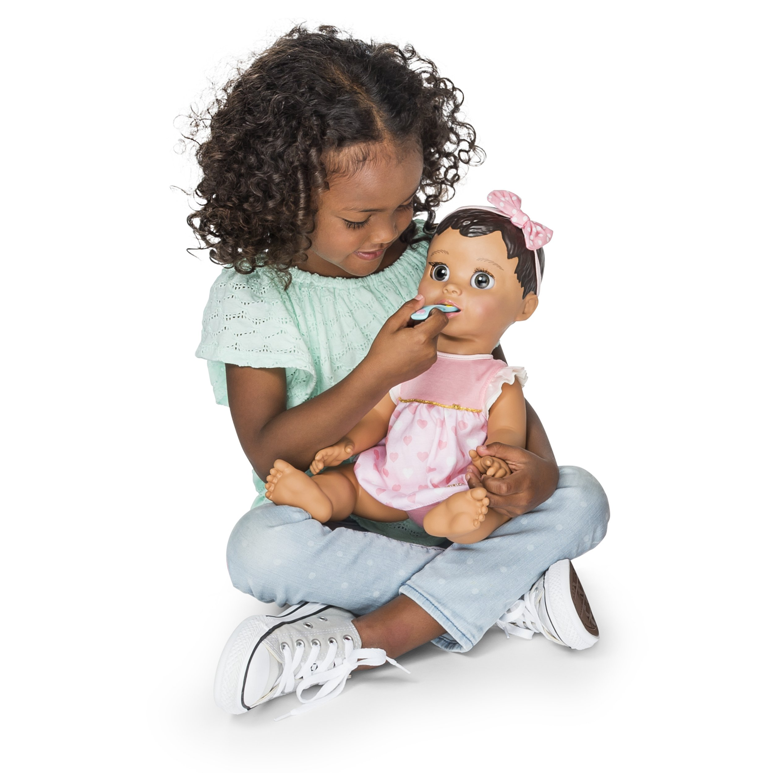 Luvabella Brunette Hair Responsive Baby Doll With Realistic
