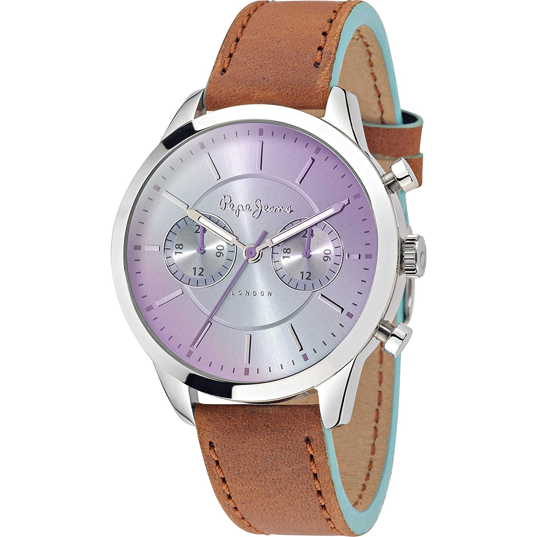 Pepe Jeans Damen-Armbanduhr Meg  Analog Quarz Leder R2351121504