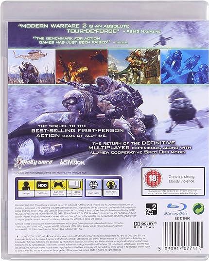 Amazon com: Call of Duty: Modern Warfare 2 - Playstation 3