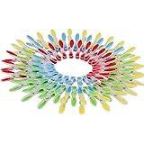 Set da 72 Mollette da Bucato in Plastica da Kurtzy - Mollette per Bucato in Plastica colorata Extra Strong con Impugnatura Morbida -Mollette Bucato nei Colori Rosso, Blu, Giallo e Verde