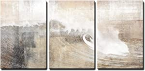 wall26 - Abstract Huge Wave Composition - Canvas Art Wall Decor-16 x24 x3 Panels