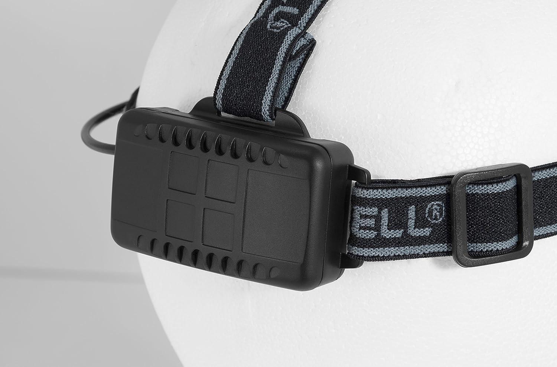1 St/ück Duracell Taschenlampe Schwarze Kunststoffbeschichtung Explorer Headlamp PRO Serie Stirnlampe mit Band Duracell Batterien enthalten HDL-2C helle 120 Lumen