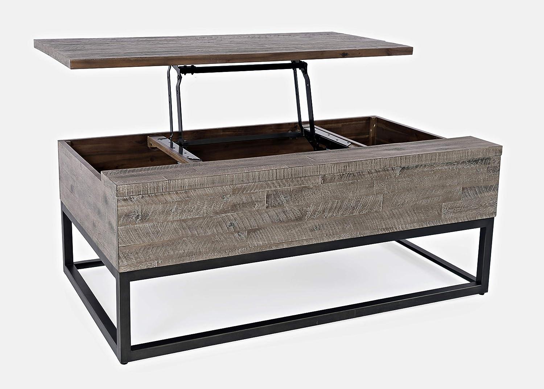 Jofran Inc. East Hampton Lift Top Coffee Table, Distressed Grey