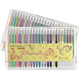 officematters - Set 96 penne Gel con custodia - 50% di inchiostro in più – Perfette per Libri da Colorare-2confezioni da 48penne (Glitter, Neon, Pastello, Metallico)