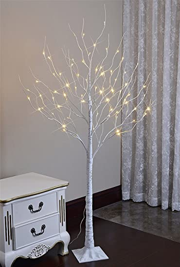 Lightshare 6 Feet Lighted Birch Tree 72 Led Lights Decoration For Home Wedding