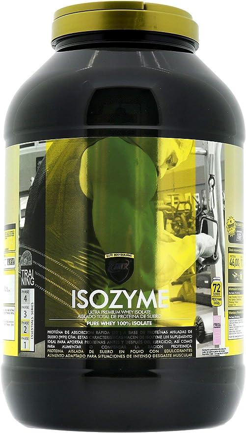 MTX nutrition ISOZyme [3,628 Gramos] 8 Lbs. Fresa – Aislado de Suero Premium Ultra-Microfiltrado