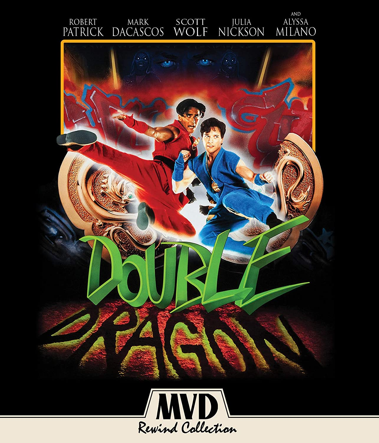 Amazon Com Double Dragon Blu Ray Scott Wolf Alyssa Milano Robert Patrick Mark Dacascos Julia Nickson Al Leong Michael Berryman Andy Dick James Yukich Movies Tv