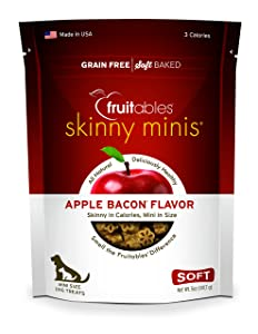 Fruitables Skinny Minis Apple Bacon Soft & Chewy Dog Treats