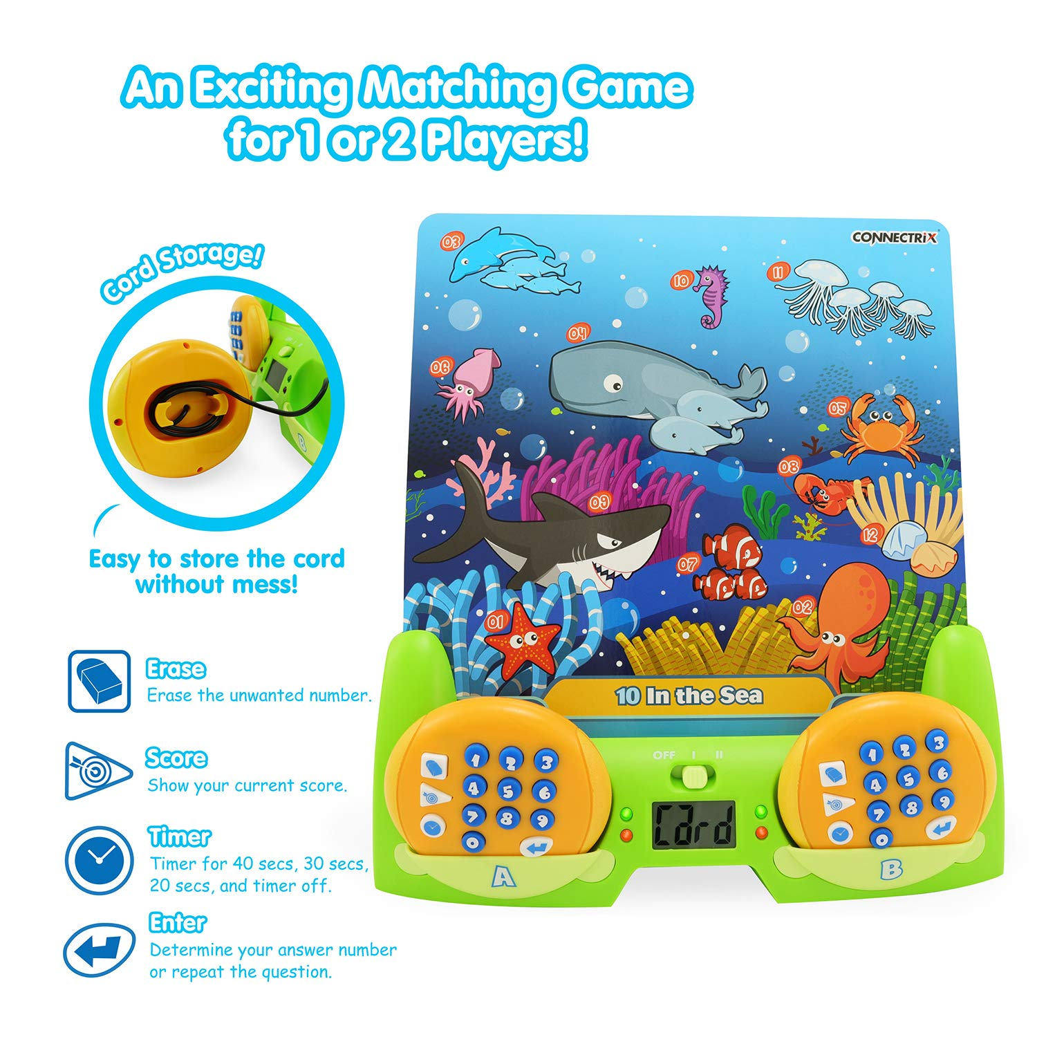 BEST LEARNING Connectrix Junior - Memory Matching Game for Kids - Original Interactive Educational Match Cards Toddler Games for 3-8 Year Olds - Classic 2-Player Concentration Card Toys for Toddlers by BEST LEARNING (Image #3)