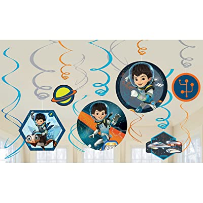 Disney Miles from Tomorrowland Value Pack Foil Swirl Decorations, Party Favor: Toys & Games
