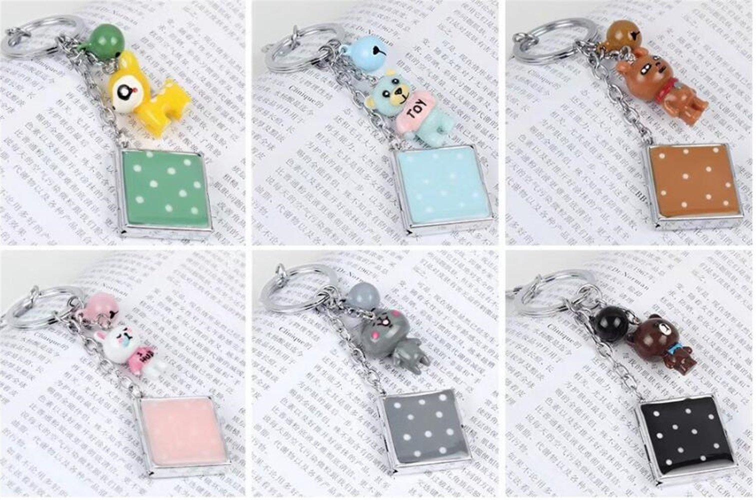 Childrens Mirror Mini Square Shape Cartoon Small Glass Mirrors for Crafts Decoration Cosmetic Accessory