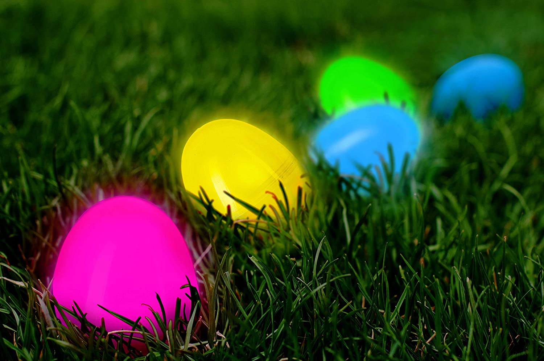 Amazon.com: Huevos de Pascua con relleno de resplandor en la ...