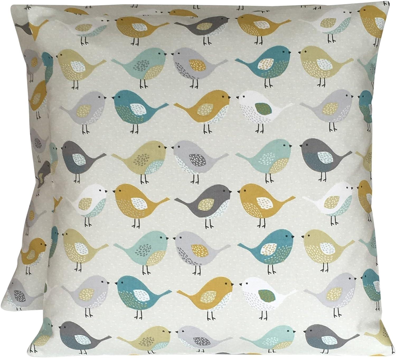 "16/"" Cushion Cover Fryetts Helix Ochre Mustard Saffron Yellow and Grey"