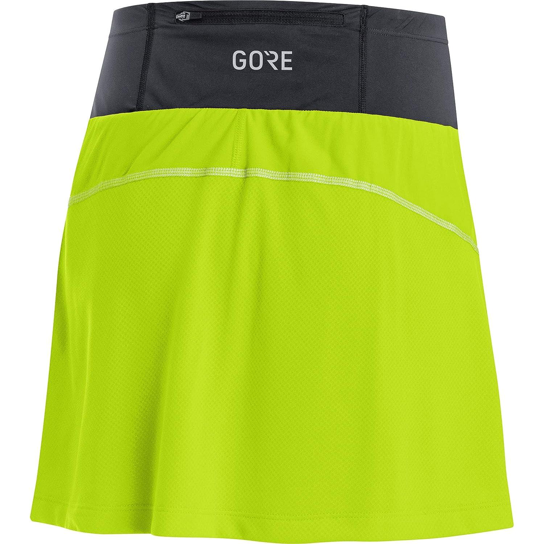 GORE WEAR Mujer R7 Falda pantalón, Verde cítrico/Negro, 38: Amazon ...