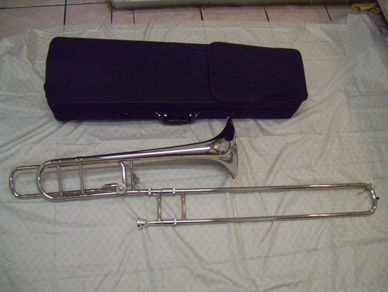 Silver Trigger Trombone, open wrap