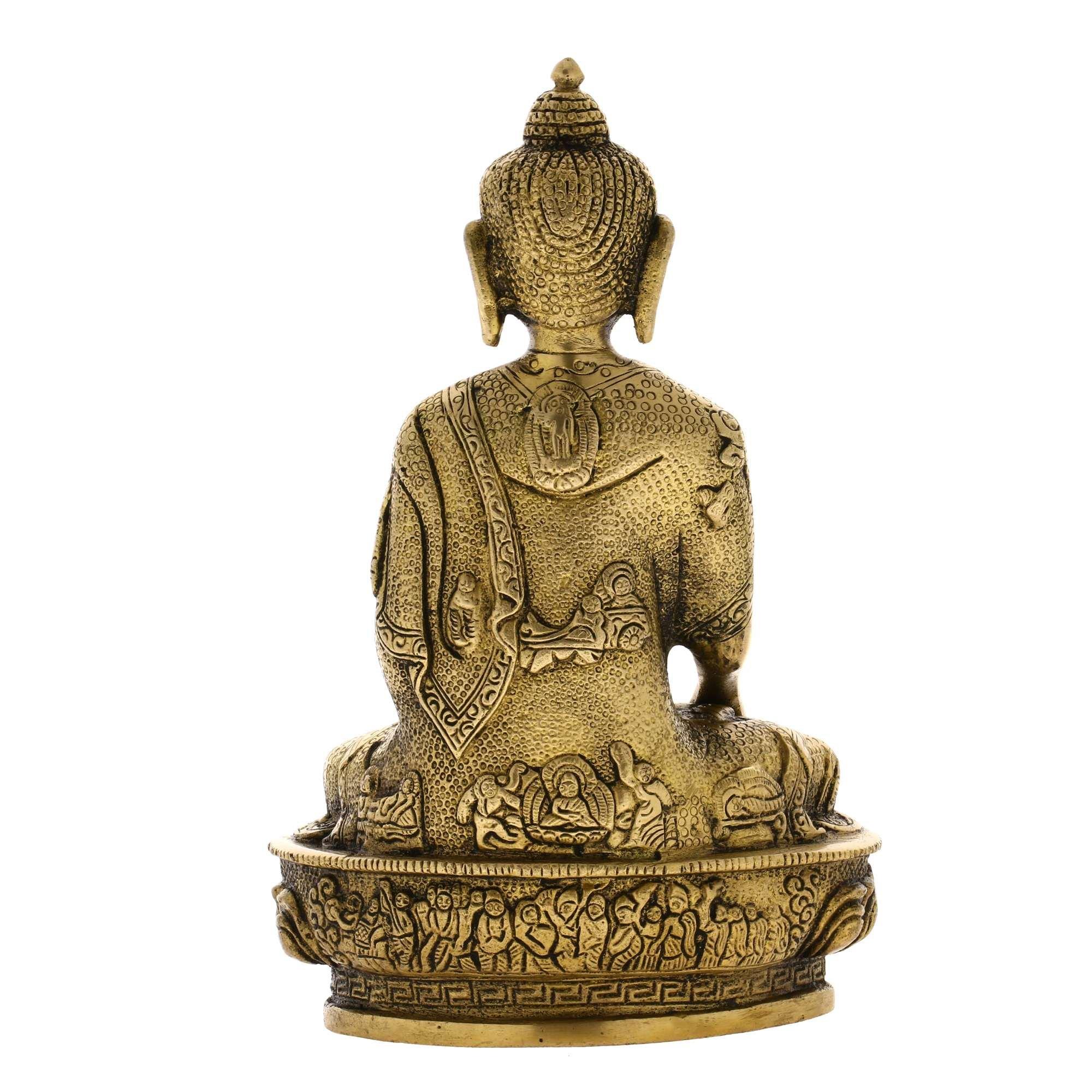 Handmade Seated Buddha Statue Sculpture India Metal Sculpture Spiritual Gifts by ShalinIndia (Image #2)