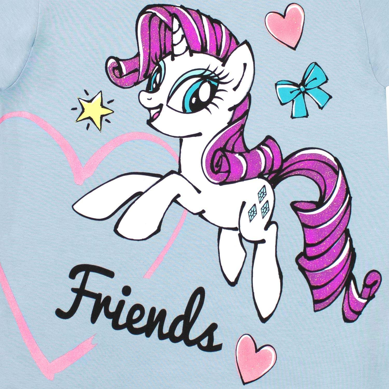 My Little Pony Girls Pinky Pie Rarity T-Shirt Pack of 2