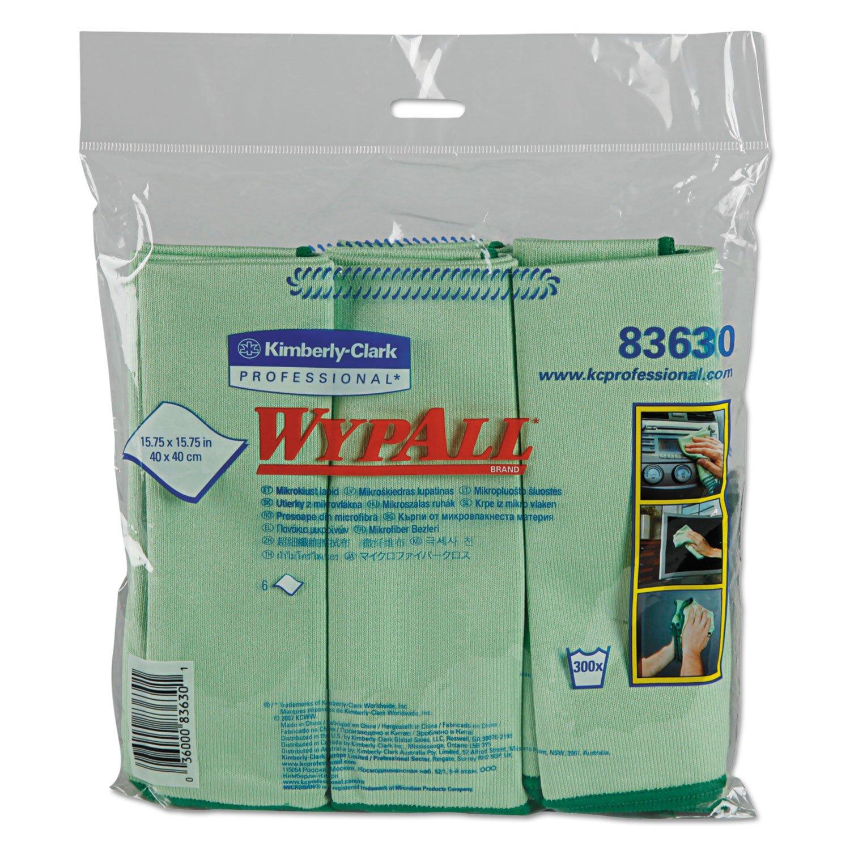 KIMBERLY-CLARK PROFESSIONAL* - WYPALL Cloths w/Microban, Microfiber 15 3/