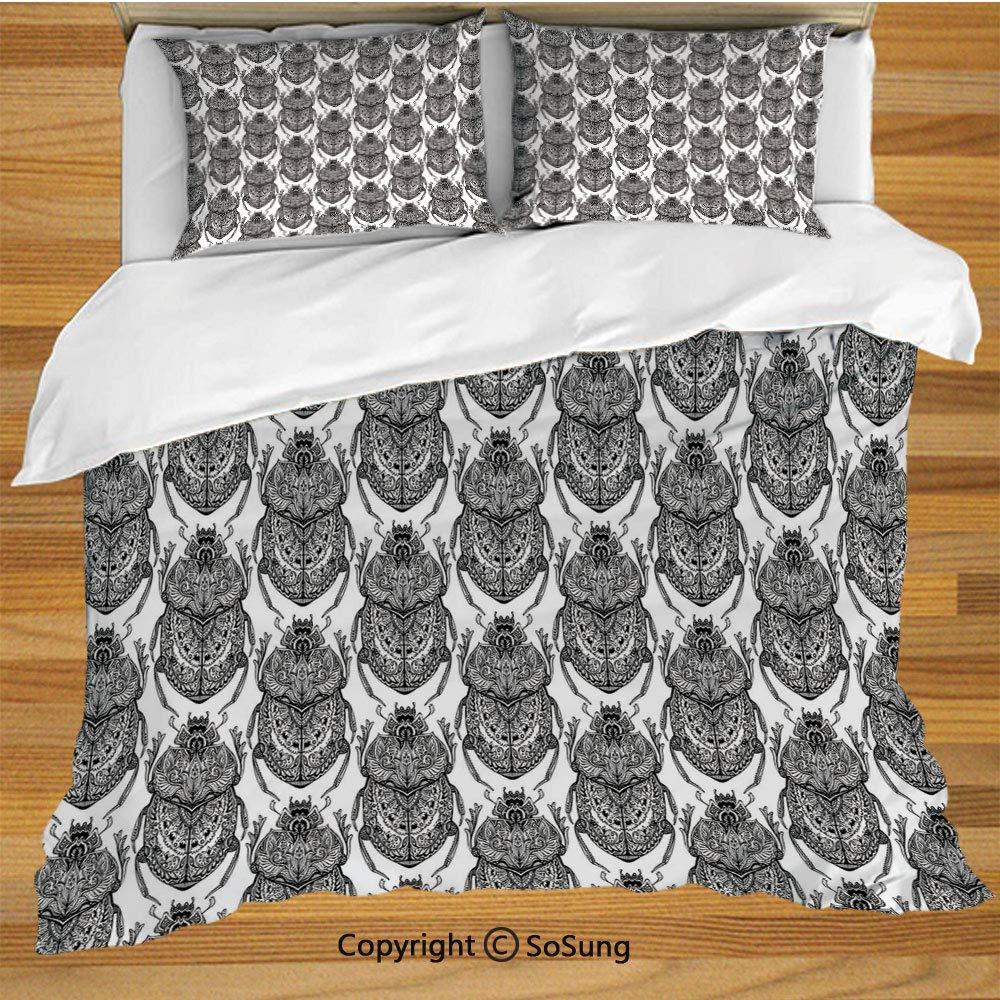 Juego de funda nórdica de ropa de cama egipcia, escarabajos ...