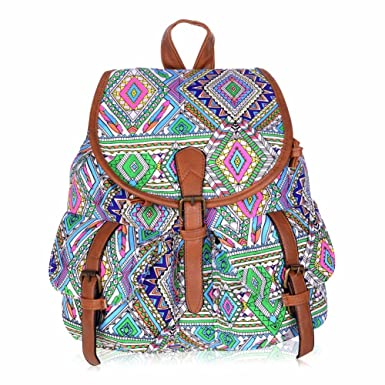 9bcd57c802 Image Unavailable. Image not available for. Color  Vbiger Canvas Backpack  for Women   Girls ...