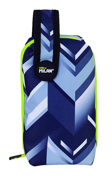 MILAN Kit 1 Estuche con Contenido Edge Estuches, 19 cm, Gris ...