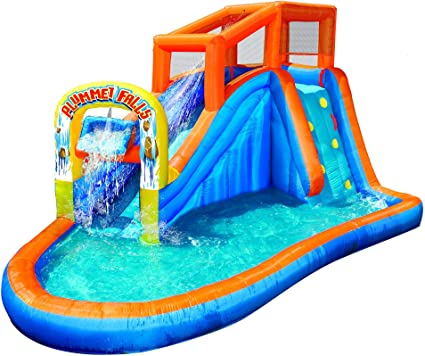 Amazon.com: BANZAI Plummet Falls Adventure Slide, Multicolor ...