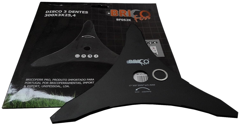 Bricoferr BF052K Disco cuchilla de 3 puntas semi-profesional para ...