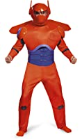 Disguise Men's Red Baymax Deluxe Adult Costume