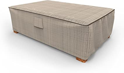 Amazon.com : Budge P5A36PM1 English Garden Patio Ottoman/Coffee Table Cover Heavy Duty And Waterproof, Large, Two-Tone Tan : Garden & Outdoor