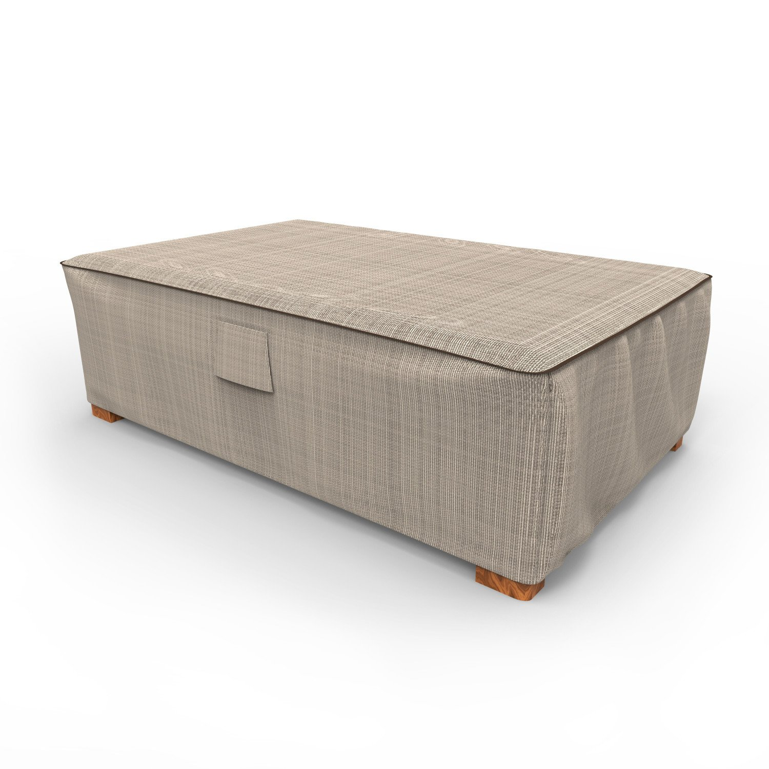 Budge English Garden Patio Ottoman Cover / Coffee Table Cover, Large (Tan Tweed)