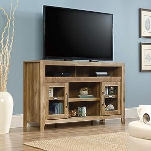 Sauder Dakota Pass Entertainment/Fireplace Credenza, for TVs up to 60