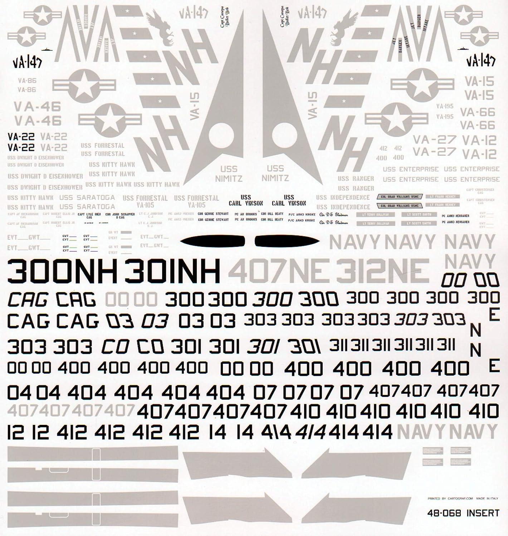 FUR48068 1:48 Furball Aero Design A-7E Corsair II Lo-Viz SLUFs WATERSLIDE Decal Sheet