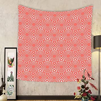 Amazon.com: Gzhihine Custom tapestry Coral Decor Tapestry Simple ...