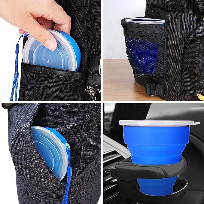 230ml Commestibile Portatile Tazza di caff/è per Escursionismo Sport allaperto Collassabile Silicone Coppa di viaggio Set di 2 Coppa pieghevole Campeggio Tazza BPA Free /& FDA Approvato Adatto a bambini
