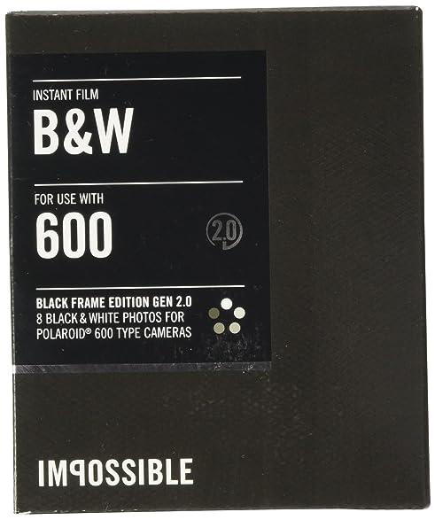 9886eb16c5c4c9 Impossible PRD2804 Black and White Film for Polaroid 600-Type Camera Frame  (Black)