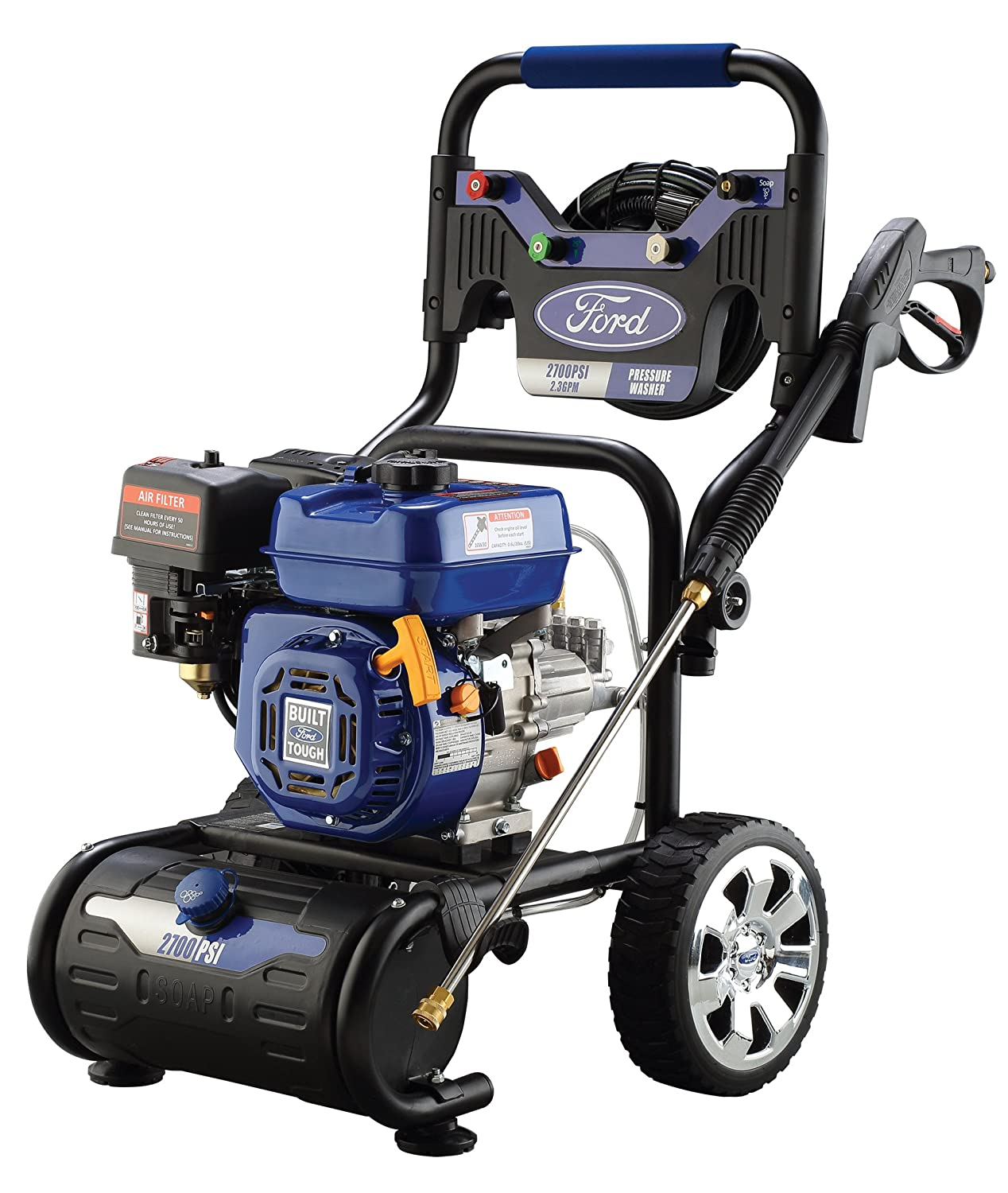 Amazon.com : Ford 2, 700 PSI Gas-Powered Pressure Washer with Built-in Soap  Tank, FPWG2700H-J : Garden & Outdoor
