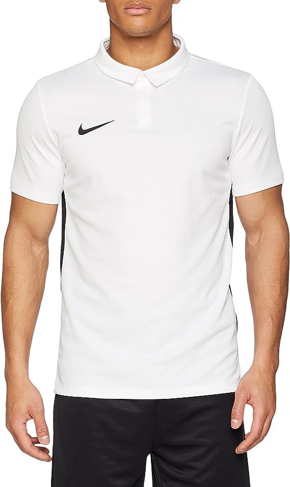 NIKE Mens Dry Academy18 Football Camisa Polo, Hombre, Negro ...