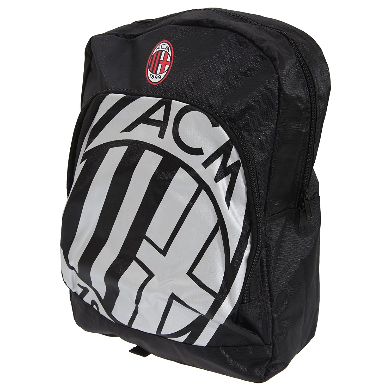 ACミラン フットボールクラブ AC Milan オフィシャル クレストデザイン キッズ子供用リュックサック バックパック スポーツバッグ サッカー ワンサイズ ブラック/ホワイト B0125TZ4LI