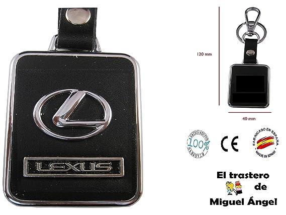 Llavero cuero y metal Lexus